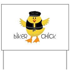 Biker Chick Yard Sign