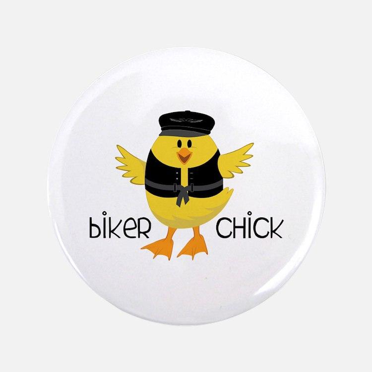 """Biker Chick 3.5"""" Button"""