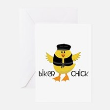 Biker Chick Greeting Cards