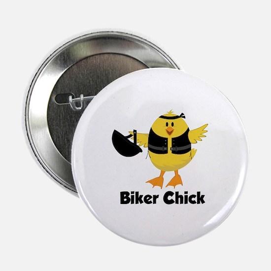 """Biker Chick 2.25"""" Button"""