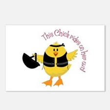 This Chik Rides Postcards (Package of 8)