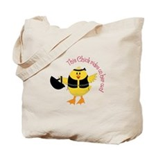 This Chik Rides Tote Bag