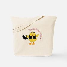 This Chik Rides Tote Bag