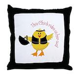 Biker chick Cotton Pillows