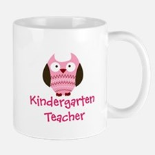 Pink Owl Kindergarten Teacher Mugs