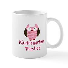 Pink Owl Kindergarten Teacher Mugs