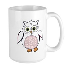 White Cartoon Owl Mugs