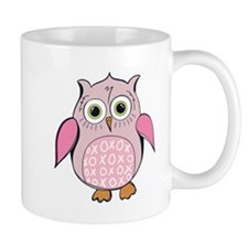 Pink Cartoon Owl Mugs