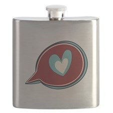 Red Heart Thought Bubble Flask