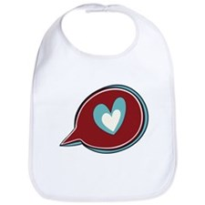 Red Heart Thought Bubble Bib