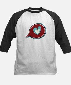 Red Heart Thought Bubble Baseball Jersey