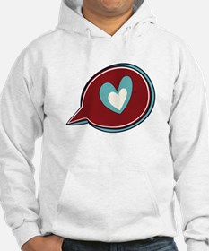 Red Heart Thought Bubble Hoodie