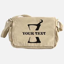 Black your text Mortar and Pestle Messenger Bag