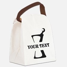 Black your text Mortar and Pestle Canvas Lunch Bag