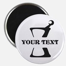 Black your text Mortar and Pestle Magnet