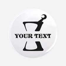 """Black your text Mortar and Pestle 3.5"""" Button"""