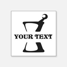 """Black your text Mortar and Square Sticker 3"""" x 3"""""""
