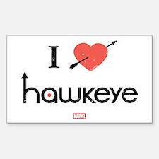 I Heart Hawkeye Red Decal