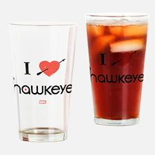 I Heart Hawkeye Red Drinking Glass