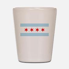 Unique Chicago flag Shot Glass