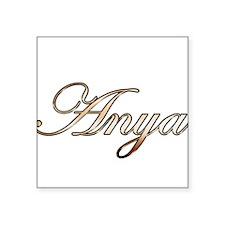 Gold Anya Sticker