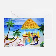 Mermaid beach bar Greeting Card
