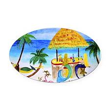 Mermaid beach bar Oval Car Magnet