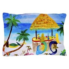 Mermaid beach bar Pillow Case