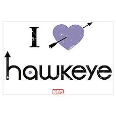 I Heart Hawkeye Purple Wall Art Poster