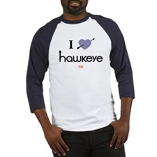 I Heart Hawkeye Purple Baseball Jersey