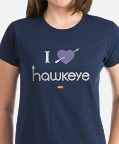 I Heart Hawkeye Purple Tee