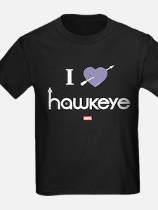 I Heart Hawkeye Purple T