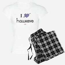 I Heart Hawkeye Purple Pajamas