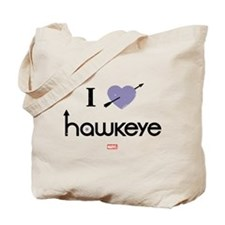 I Heart Hawkeye Purple Tote Bag