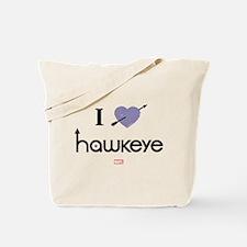 I Heart Hawkeye Purple Tote Bag