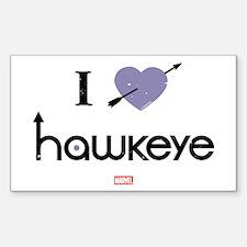 I Heart Hawkeye Purple Decal