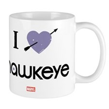I Heart Hawkeye Purple Mug