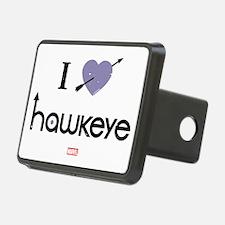 I Heart Hawkeye Purple Hitch Cover