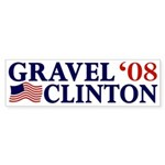 Gravel-Clinton 2008 Bumper Sticker