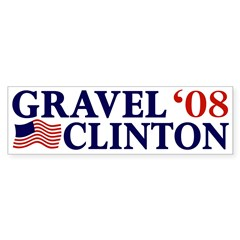 Gravel-Clinton 2008 Bumper Bumper Sticker