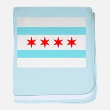Cute Chicago baby blanket