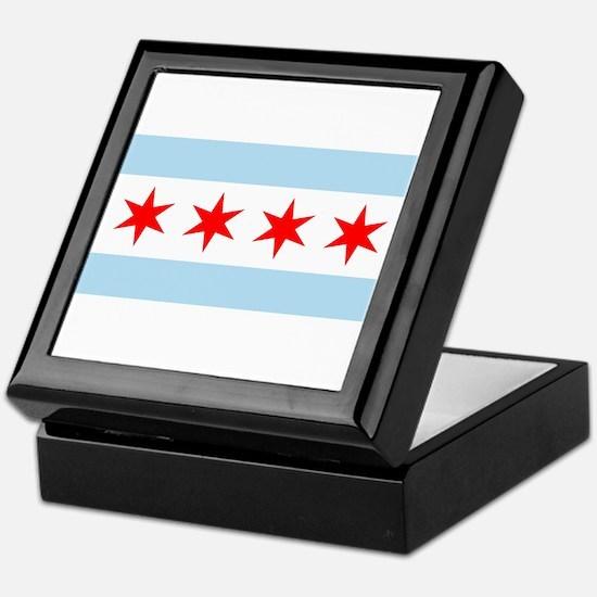 Cute Chicago the windy city Keepsake Box