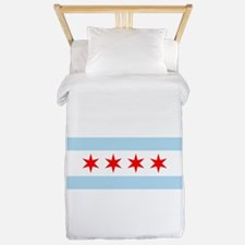 Cute Chicago the windy city Twin Duvet