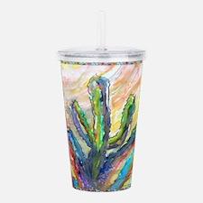Cactus, southwest art! Acrylic Double-wall Tumbler