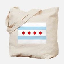 Cute Chicago city flag Tote Bag