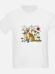 modern vintage woodland winter fox T-Shirt