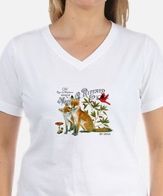 modern vintage woodland winter fox T-Shirt