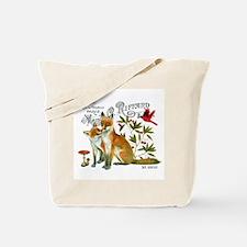 modern vintage woodland winter fox Tote Bag