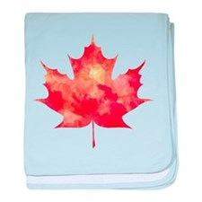 Maple Leaf Art baby blanket