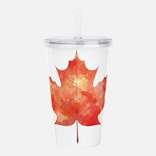 Maple Leaf Art Acrylic Double-wall Tumbler